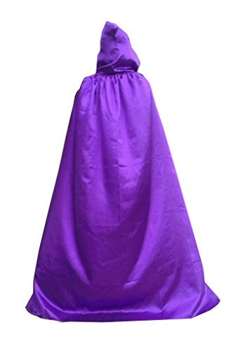 [Womens Hooded Cloak Role Cape Play Costume lavender X Large] (Purple Hooded Cape)