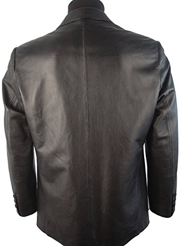 Johnnyblue Men 1021 Big Long Tall All Size Lamb Fine Leather Blazer by Johnnyblue (Image #2)