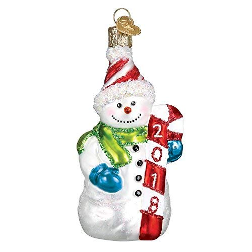 Old World Christmas 2018 Snowman Glass Blown Ornament
