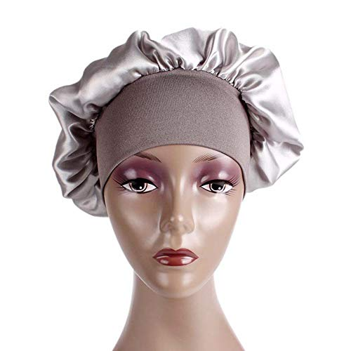 Chunky Tweed Hat - Swyss Women's Soft Silky Satin Turban Elastic Wide Band Satin Bonnet Night Sleep Hat Hair Loss Cap