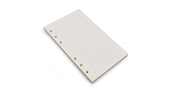 Amazon.com: 6 anillas A6 carpeta/planificador de papel de ...
