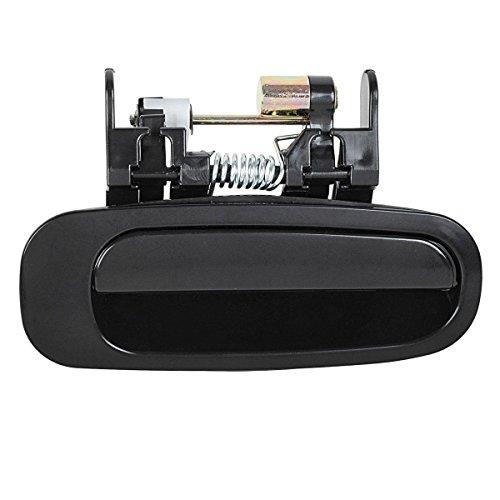 AUTEX Black Exterior Rear Right Door Handle Passenger Side compatible with 1998 1999 2000 2001 2002 Toyota Corolla Door Handle 80422 77431 6923002030
