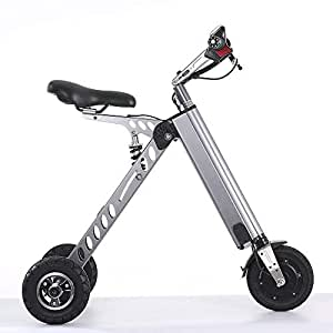 Topmate Eléctrico vehículo Mini Moda de Bicicletas y electrónica Inteligente de Movilidad eléctrica de Triciclo Plegable y portátil Bicicleta eléctrica (Gris)