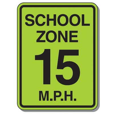 School Zone Speed Limit Sign - 18