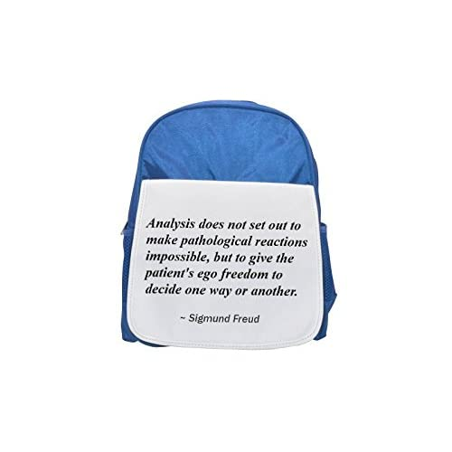 Analysis does not Set Out to make pathological Reactions Impossible, but to Give the Patient 's EGO Freedom To Decide One Way Or another. Printed Kid' s Blue Backpack, Cute de mochilas, Cute Small BACKPAC