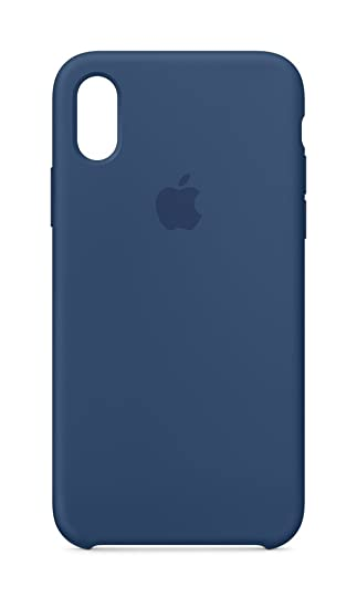 cheap for discount 80987 30eb2 Apple iPhone X Silicone Case - Blue Cobalt: Amazon.in: Electronics