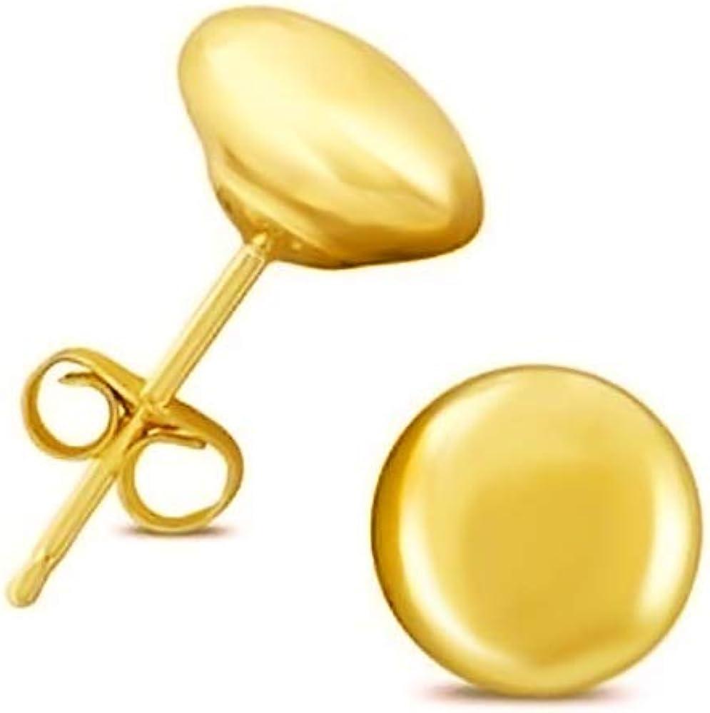 14K Yellow Gold Button Ball...