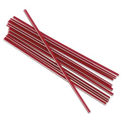 BWKSTRU525S10 Unwrapped Stir-Straws, 5 1/4quot, Red w/White Stripe, - Straws Red Unwrapped Stripe