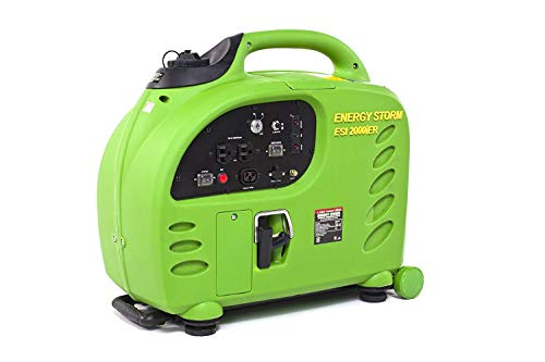 Lifan Energy Storm ESI 2000iER-CA 2000 Watt 125cc 4-Stroke OHV Gas Powered Portable Inverter Generator with Remote Start/Stop Key Fob (CARB Certified)