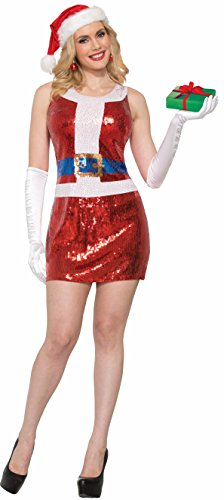 Forum Women's Sequin Holiday Dress, Santa, X Small ()