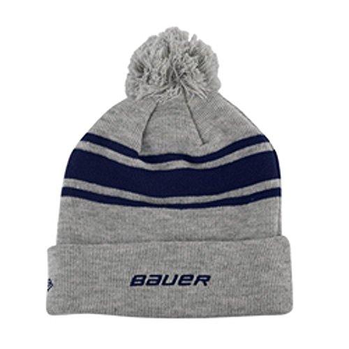 Bauer New Era Team Striped Pom Pom Knit Hat - Navy ()