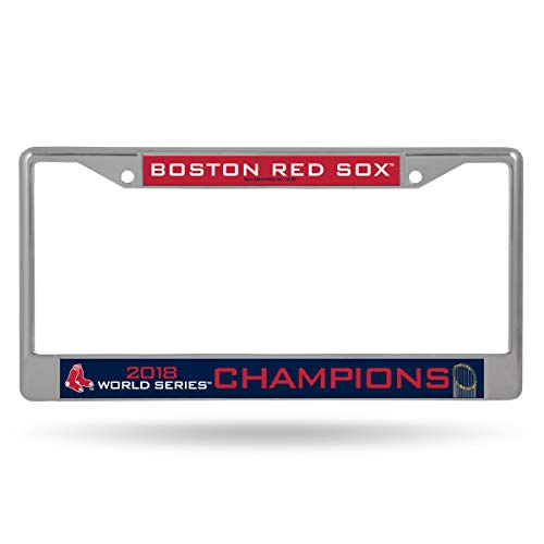 Rico Tag Express Boston Red Sox 2018 World Series Champions Chrome Metal License Plate ()