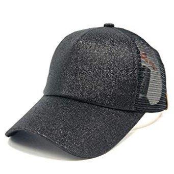 エール競うフェンスHaozao 野球帽 スパンコール蛍光 黒色