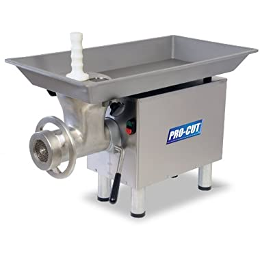PRO-CUT KG-22 Meat Grinder, 1 hp Motor, Stainless Steel Construction, Washerless Grinding System
