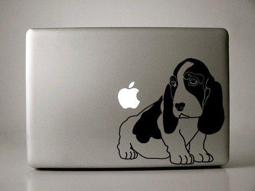 "Basset Hound Decal for 13"" Macbook"