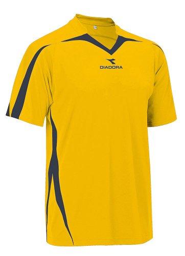 - Diadora Soccer Men's Rigore Jersey, Gold/Black, Large
