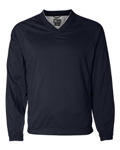 Adidas ClimaProof V-Neck Wind Shirt - NAVY/WHITE - Small