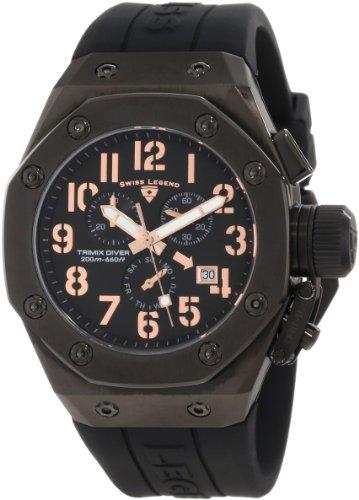 Swiss Legend Men's 10541-BB-01-RA Trimix Diver Chronograph Black Dial Watch (Legend Chronograph Mens Swiss)