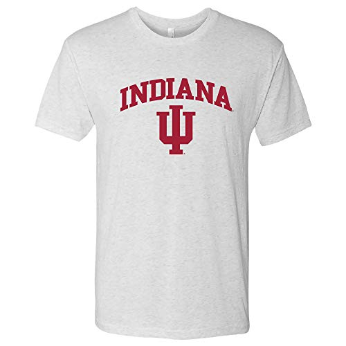 UGP Campus Apparel AS03NL - Indiana Hoosiers Arch Logo Triblend T-Shirt - Small - Heather White