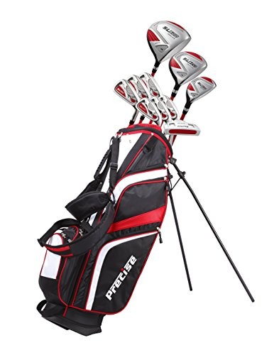 15 Piece Ladies Womens Complete Right Handed Golf Clubs Set Includes Titanium Driver, S.S. Fairway, S.S. Hybrid, S.S. 6-PW Irons, Sand Wedge, Putter, Stand Bag, 3 Head covers Right Hand