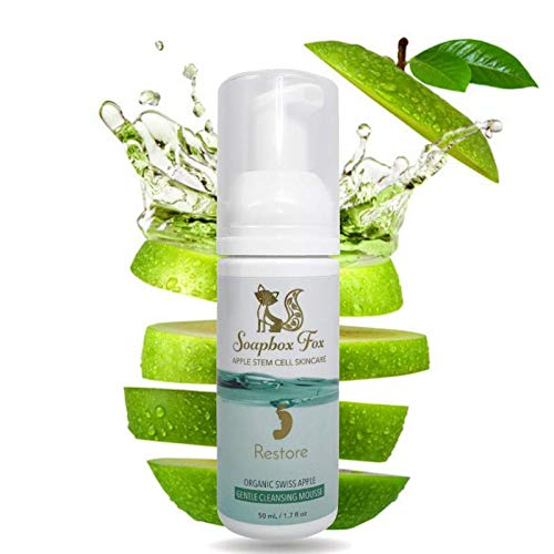Organic Face Wash - Anti Aging Apple Stem Cell Foaming Facial Cleanser Mousse - The Best Natural Antioxidant Skin Care - Vitamin C Face Wash w/Green Tea - Ayurvedic w/Triphala