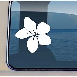 Plumeria Flower Decal #33 - Vinyl Hawaiian Sticker 3.5 by 3.5 inch