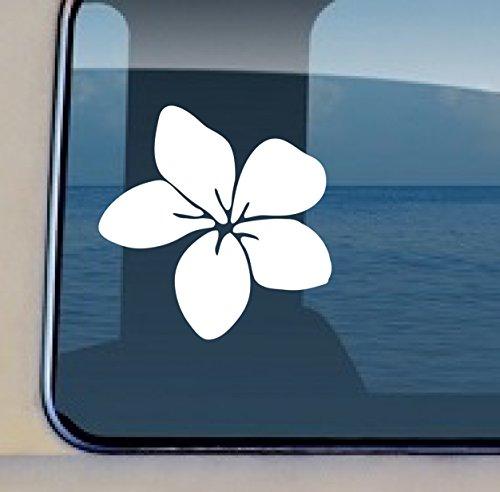 Plumeria Flower Decal #33 - Vinyl Hawaiian Sticker 4.5 by 4.5 inch