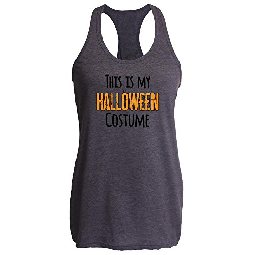 [This Is My Halloween Costume Heather Charcoal XL Womens Tank Top by Pop Threads] (1980's Costume Party City)