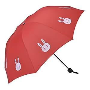 NEW The Sailor Moon Cute Rabbit sun-rain umbrella A Red