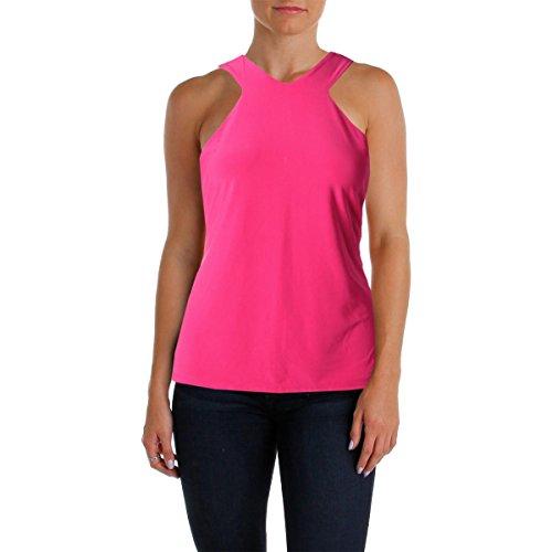 Lauren Ralph Lauren Womens Matte Jersey Sleeveless Blouse Pink M