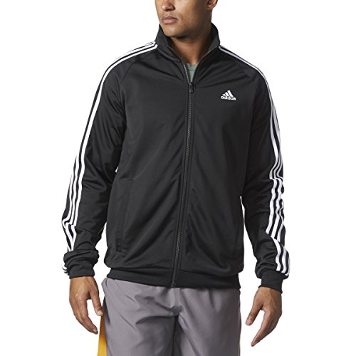 E 'essenziale 3 strisce adidas uomini tricot traccia giacca sopra...