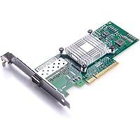 HiFiber for Intel 82599ES Controller 10GbE Ethernet Converged Network Adapter(NIC) X520-DA1, Single SFP+ Port PCI-E X8