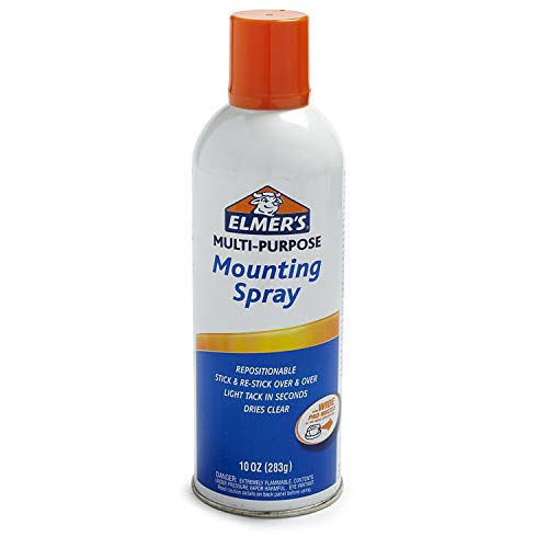 ELMERS Repositionable Mounting Spray Adhesive, 10 Oz, Clear (E454) 2 Pack by Elm@er's