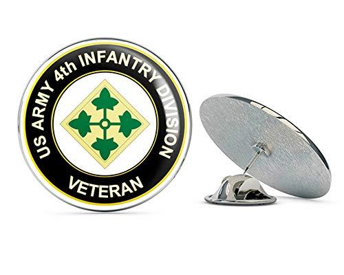 U.S. Army 4th Infantry Division Veteran Metal 0.75