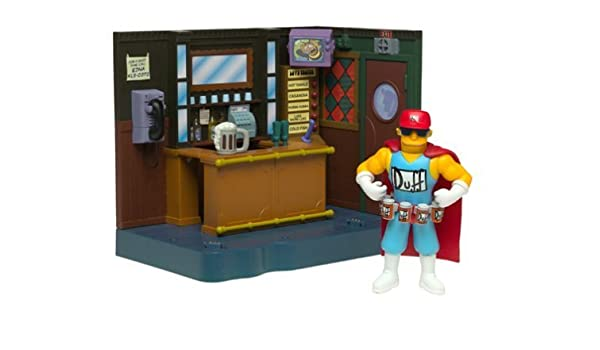 The Simpsons Exclusive Playset Moes Bar with Duffman by Playmates ...