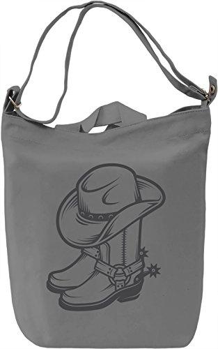 Cowboy shoes Borsa Giornaliera Canvas Canvas Day Bag| 100% Premium Cotton Canvas| DTG Printing|