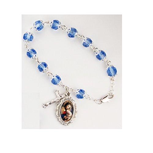 Box Bracelet Velour ((BR81) BLUE DOUBLE CAPPED BRACELET RED VELOUR GIFT BOX DIMENSION: 7 1/2