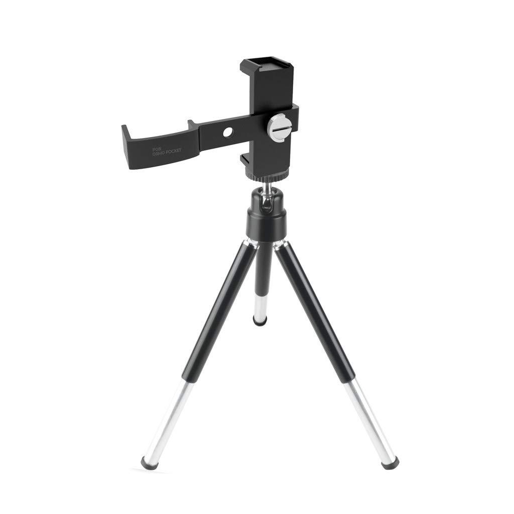 Littleice DJI OSMO ポケットハンドヘルドカメラ用 多機能三脚マウントスタンド 携帯電話ホルダー   B07M8F18KZ