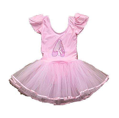 1-7 Years Old Girls,Yamally_9R Toddler Girls Gauze Leotards Ballet Bodysuit Skirt Dancewear Dress Clothes Outfits (3T, Pink)
