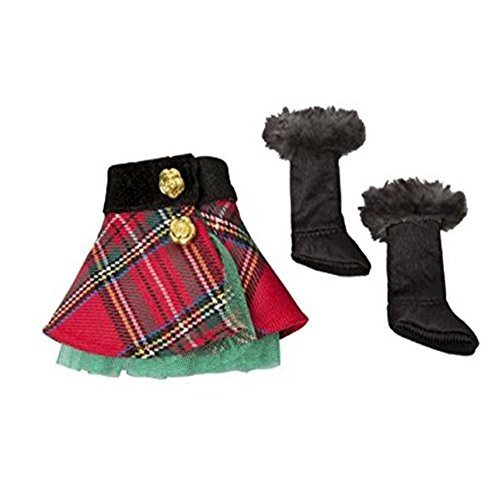 (The Elf on the Shelf Claus Couture Collection Tartan Skirt and Boots)
