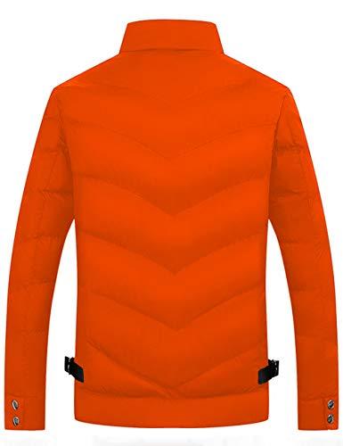 Outdoor Winter Men's Ultra Winter Quilted Jacket Light Jacket Hooded Light Down Orange Jacket HAHAEMMA w7ZqBn0FBx