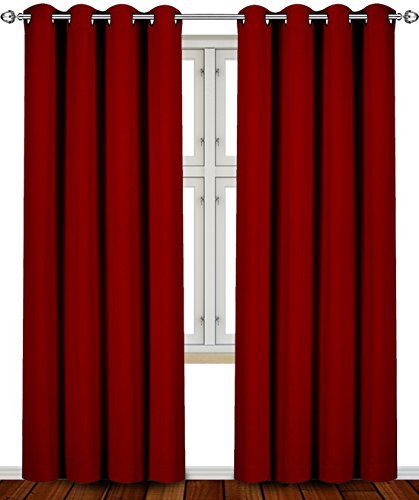 Utopia Bedding Blackout Room Darkening Curtains Window Panel Drapes
