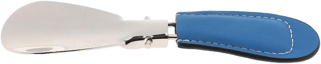 G/én/érique Sharplace Chausse-pied Pliante en M/étal avec Poign/ée de Cuir Pu Shoe Horn Pieds