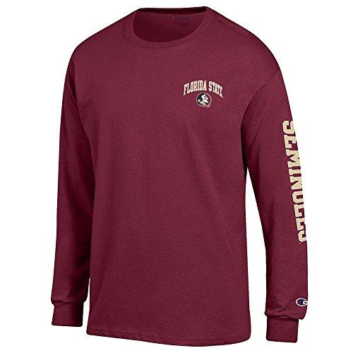 - Elite Fan Shop Florida State Seminoles Long Sleeve Tshirt Letterman Garnet - XL