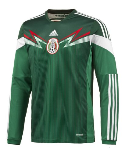 Adidas Mexico Home Jersey World Cup 2014 Long Sleeve (Mexico Home Jersey)