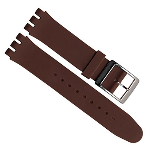 greenolive-17mm-replacement-waterproof-silicone-rubber-watch-strap-watch-band-brown