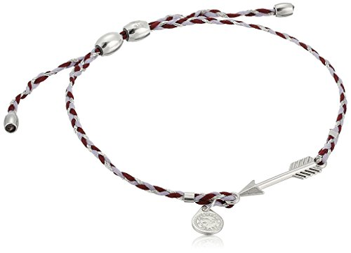 (Alex and Ani Precious Threads, Arrow, Thistle Braid, Sterling Silver Bangle Bracelet )