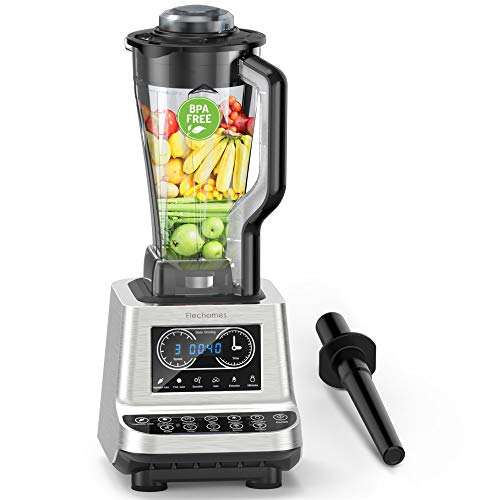 Elechomes Countertop Blender 72oz Professional Kitchen High-Speed Smoothie Blender with 1600W base and Tritan BPA-Free Pitcher, Total Crushing Technology for Smoothies, Frozen Fruit Juice, Soup, Mincemeat, 30,000RPM