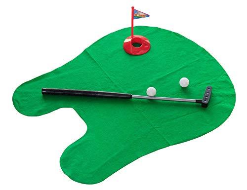 Dreamlist Toilet Golf Game Set,Toilet Time Golf Sport Game Bathroom Mini Golf Training Putter Pratice for Men's Toy Funny Time