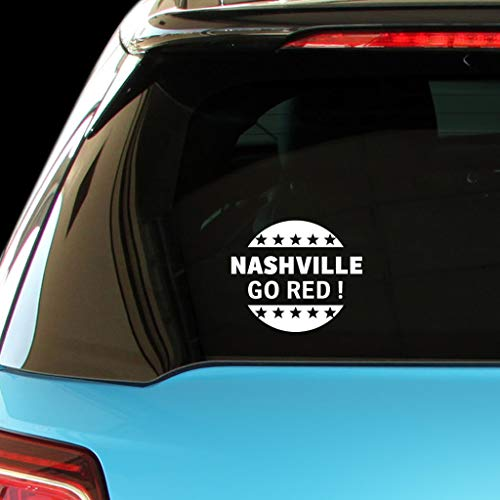 PressFans Nashville GO RED Republican Party Politics Elections Vote Car Laptop Wall Sticker